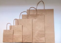 Sacola de papel Kraft pacote com 10 unidades