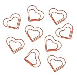 Clips Coração Ouro Rose 20 Unidades