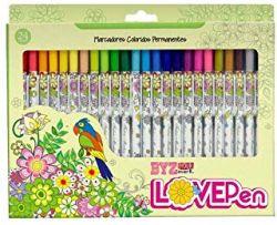 Marcador Bismark Lovepen  estojo com 24 canetas