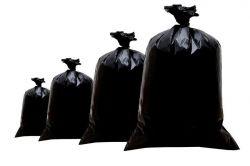 Saco para lixo preto reforçado pacote com 1Kg