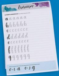 Bloco /  Livro de Exercícios para Brush Lettering