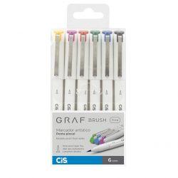 Estojo GRAF Brush Fine 6