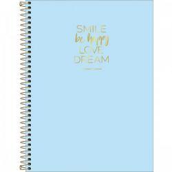 Caderno Happy 10 matérias tons pasteis